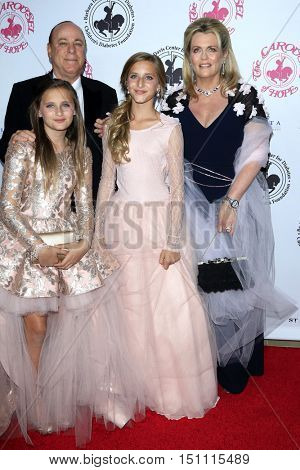 LOS ANGELES - OCT 8:  Nancy Davis, husband, daughters at the 2016 Carousel Of Hope Ball at the Beverly Hilton Hotel on October 8, 2016 in Beverly Hills, CA