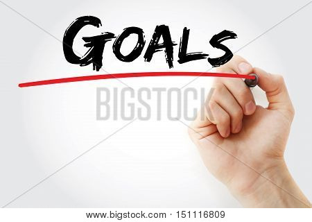 Hand Writing Goals With Marker