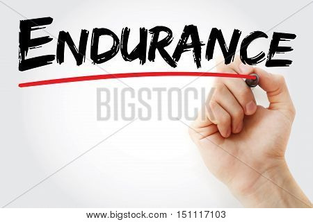 Hand Writing Endurance With Marker