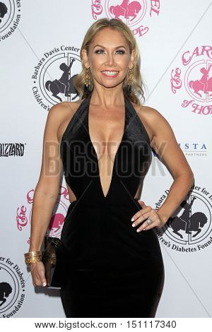 LOS ANGELES - OCT 8:  Kym Herjavec Johnson at the 2016 Carousel Of Hope Ball at the Beverly Hilton Hotel on October 8, 2016 in Beverly Hills, CA