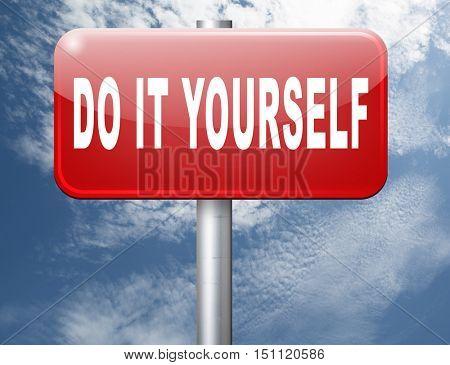do it yourself, self development. 3D illustration