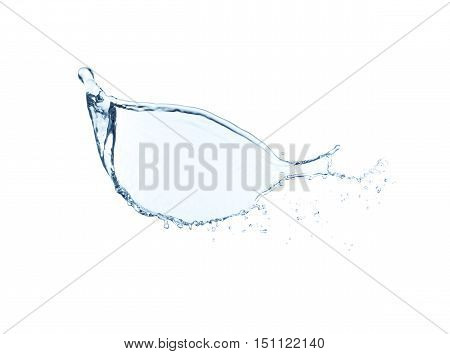 Water splash isolated on white background High resolution