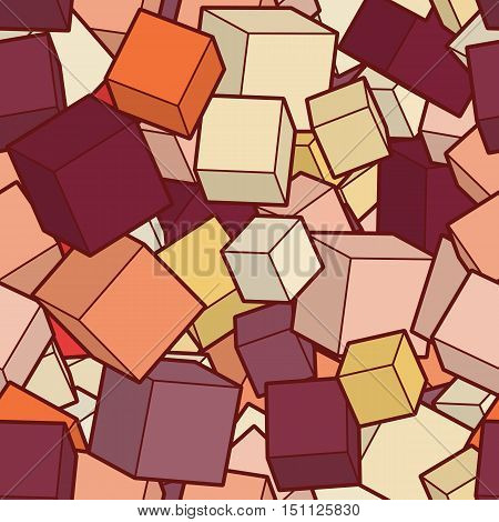 Seamles vector background. Illustration of abstract texture with squares. Pattern design for banner, poster, card, postcard, cover, brochure