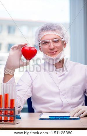 Young man in medical concept
