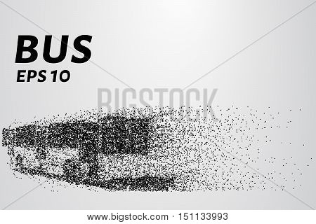 The bus from the particles. The bus consists of small circles.