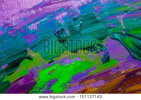 The original abstract oil painting. Background. Texture.