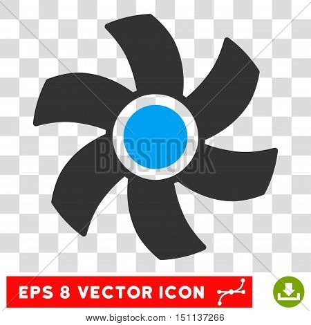 Vector Rotor EPS vector pictogram. Illustration style is flat iconic bicolor blue and gray symbol on a transparent background.