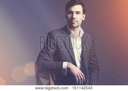 Man Against Dark Wall