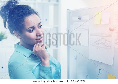 Black Woman In Modern Office