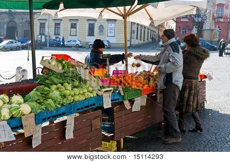 Vegetable Market In Brno
