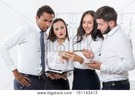 Group Of Colleague Coping With Crisis