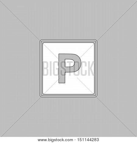 Parking Icon Vector. Flat simple color pictogram