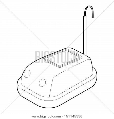 Bumper car in amusement park icon. Outline illustration of bumper car vector icon for web