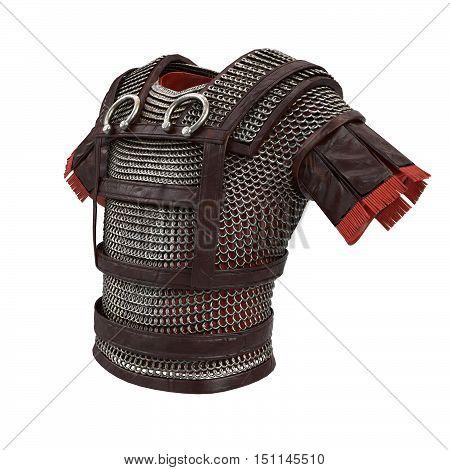 Roman armor 3d illustration isolated on background