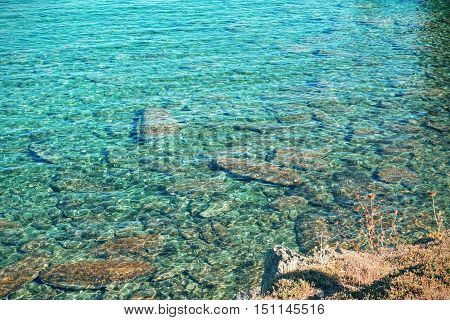 Blue Turquoise Crystal Clear Water Texture Background