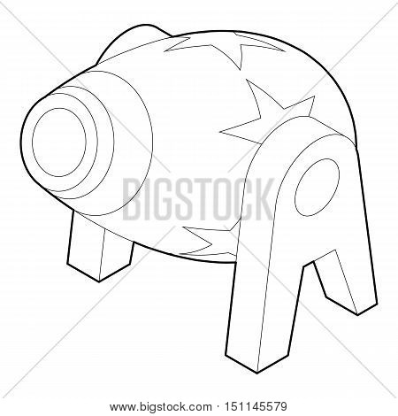 Circus cannon icon. Outline illustration of circus cannon vector icon for web