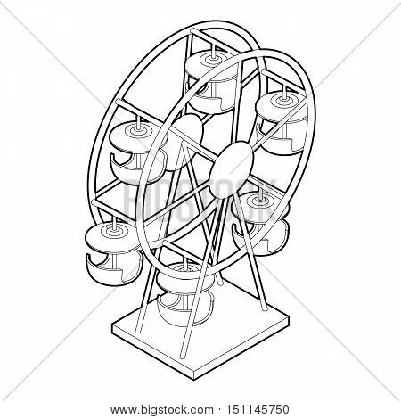 Ferris wheel icon. Outline illustration of ferris wheel vector icon for web