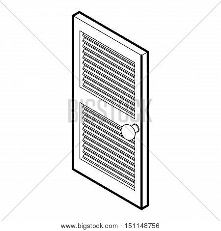 Door with horizontal vent icon. Outline illustration of door with horizontal vent vector icon for web