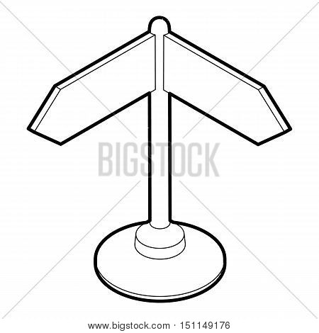 Direction sign icon. Outline illustration of direction sign vector icon for web
