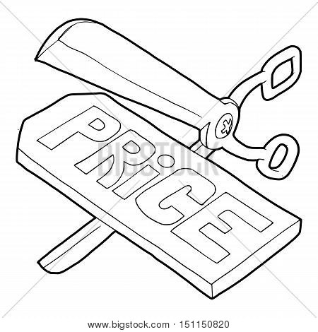 Cutting prices icon. Outline illustration of cutting prices vector icon for web