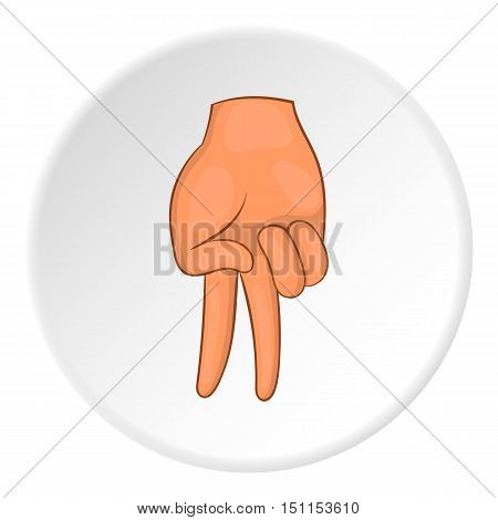 Two fingers down gesture icon. cartoon illustration of Two fingers down vector icon for web
