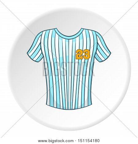 Striped baseball shirt icon. cartoon illustration of striped baseball shirt vector icon for web