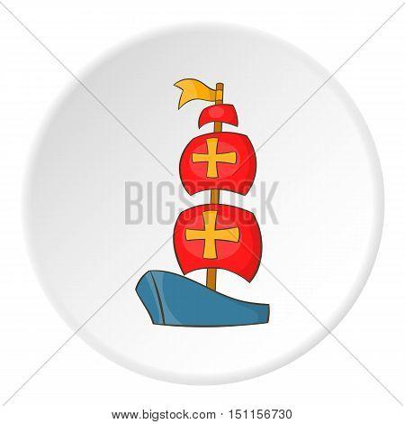 Columbus ship icon. cartoon illustration of columbus ship vector icon for web