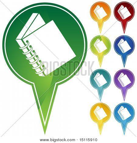 spiral bound book icon pin