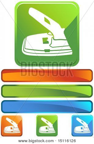 two hole paper puncher icon glossy