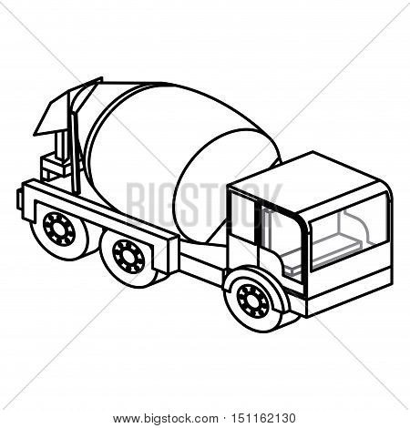 Concrete mixer icon. Truck and under construction theme. Isolated design. Vector illustration