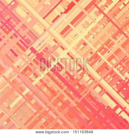 Pastel glitch background, distortion effect, abstract texture, random trend color diagonal lines for design concepts, posters, presentations and prints. Vector illustration.