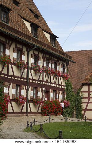 Nuremberg, Germany - Aug 23, 2016: Inside View Of The Kaiserburg, Medieval Castle In Nuremberg, Germ
