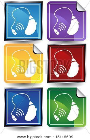 hearing aid icon color