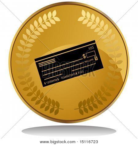 checkbook icon coin