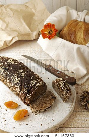 Rye Unleavened  Bread Without Yeast Sprinkled Sesame