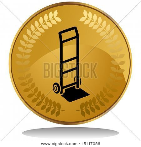 hand truck icon coin