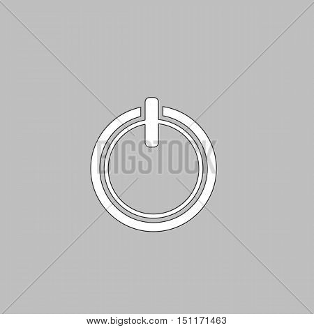 cup top Simple line vector button. Thin line illustration icon. White outline symbol on grey background