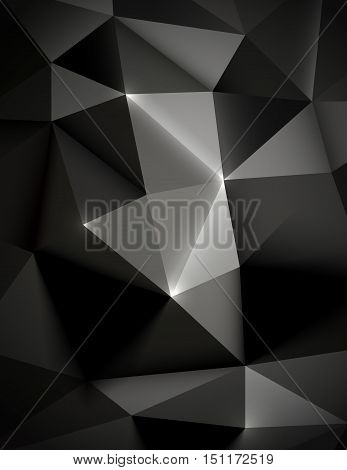 Vector illustration of Seamless pattern abstract polygonal triangle