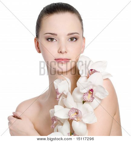 Flowers And Female Clean Skin