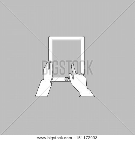 Touch screen Icon Vector. Flat simple color pictogram