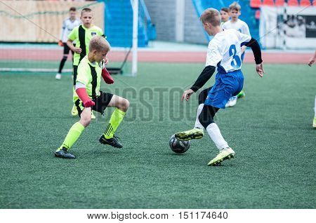 Orenburg, Russia - 1 June 2016: The Boys Play Football.
