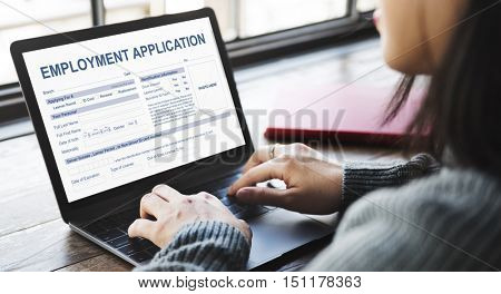 Employment Application Agreement Form Concept