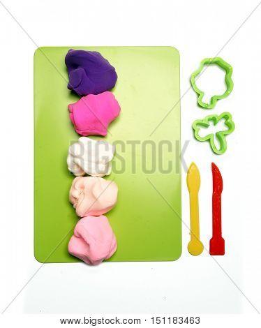 Colorful clay. Plasticine