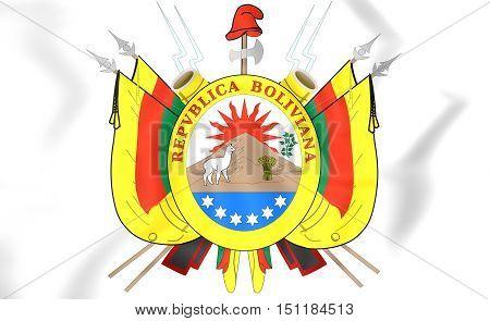 Bolivia Coat Of Arms (1826). 3D Illustration.