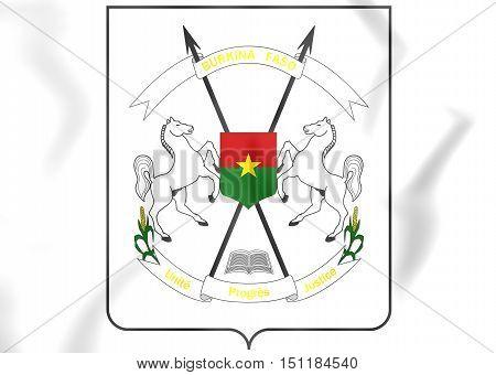 Burkina Faso Coat Of Arms. 3D Illustration.