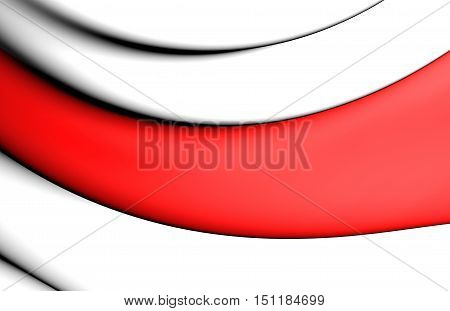 3D Flag Of Enschede, Netherlands. 3D Illustration.