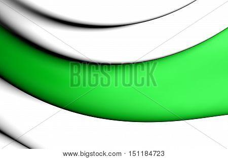 3D Flag Of Groningen City, Netherlands. 3D Illustration.