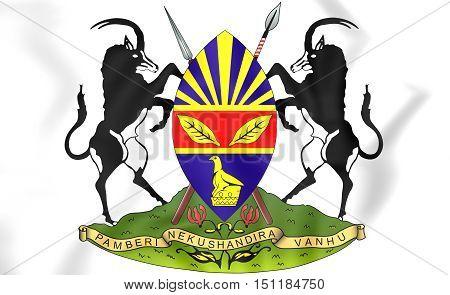 Harare Coat Of Arms, Zimbabwe. 3D Illustration.