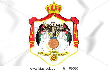 Jordan Coat of Arms. 3D Illustration. Close Up.