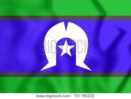 3D Flag Of Torres Strait Islanders. 3D Illustration.